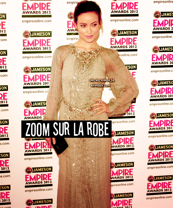 25.03.2012 Olivia sur le tournage de Rush + aux Jameson Empire Awards 2012