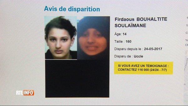 Adolescente disparue à Uccle: sa s½ur est une combattante revenue de Syrie