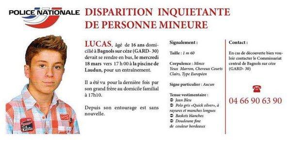 0 – Gard : à la recherche de Lucas | Syndicat National des Policiers Municipaux