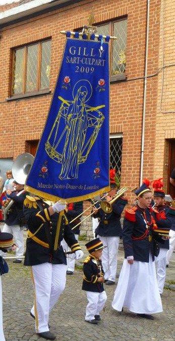 la marche Notre Dame de Lourdes de Gilly Sart-Culpart aura leui du vendredi 01 ou dimanche 03 septembre 2017