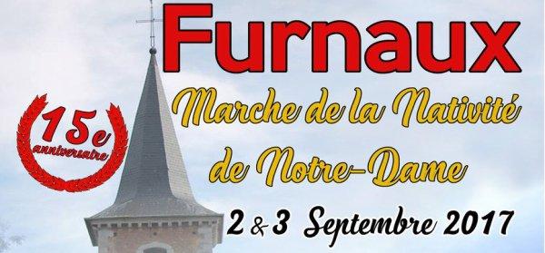 la marche Marche de la Nativité de Notre Dame furnaux mettet aura lleui le samedi 02 et dimanche 03 septembre 2017