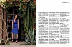 Lea Michele en couverture de Prestige