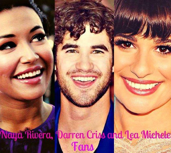 Lea, Darren et Naya <3