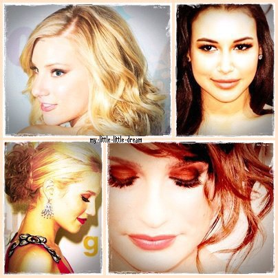 Lea, Dianna, Heather et Naya