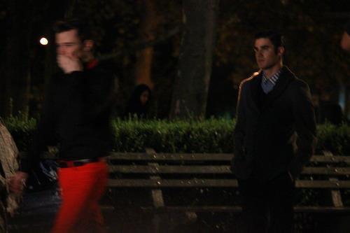 Photos de tournage scène Klaine (1)