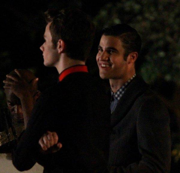 Photos de tournage scène Klaine (2)