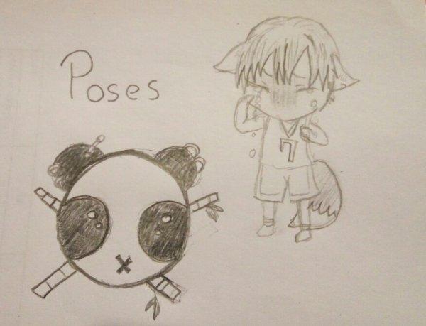 Petit dessin panda et chibi qui pleure