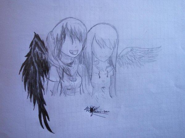 Soeur ange blanc et noir