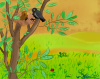 Le nid d'oiseau paysage