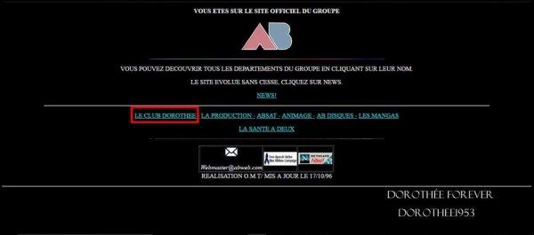 Site internet AB PRODICTION  -Le Club Dorothée
