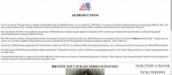 Site internet AB PRODICTION  -La Production