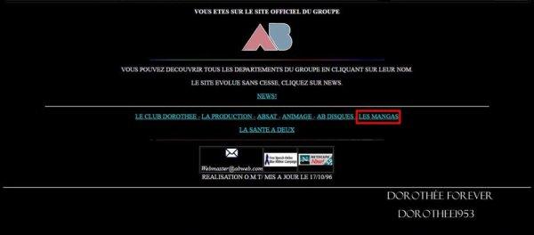 Site internet AB PRODICTION  -Les Mangas