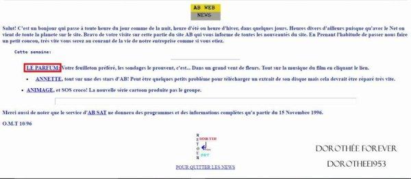 Site internet AB PRODICTION  -News / Le Parfum