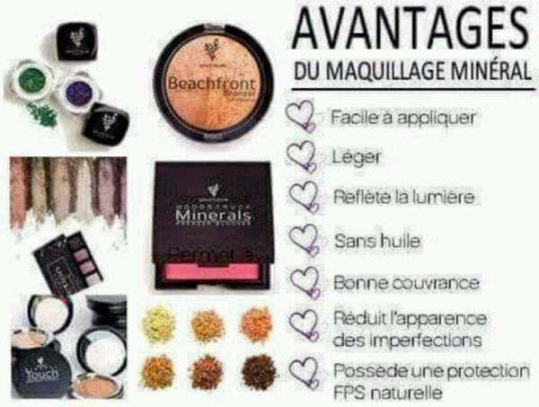 Les avantages du maquillage minéral ???