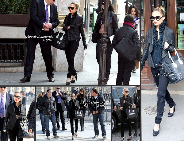 .MARCH 5TH, 2011 - NICOLE WALKS WITH HER WINTER KATE TEAM AND HER AMAZING LOOK .