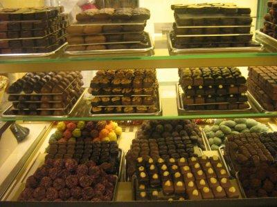 Vitrine de chocolats