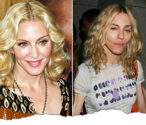 Madonna avec/sans maquillage