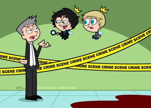 Connaissez-vous ce dessins animé ? Maintenant il y a la version Sherlock ! :)