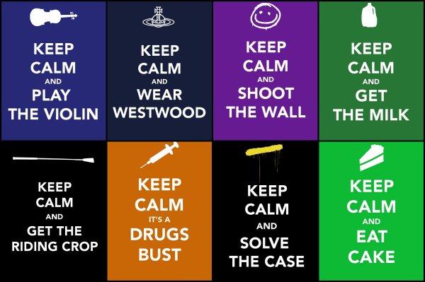 Keep calm and look at Sherlock BBC !