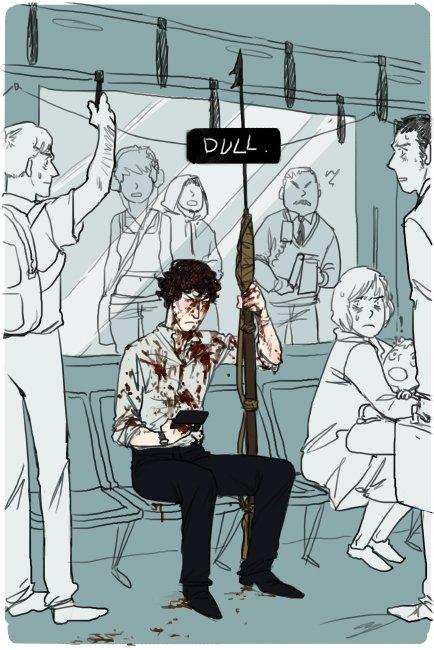 J'ai du prendre le métro...