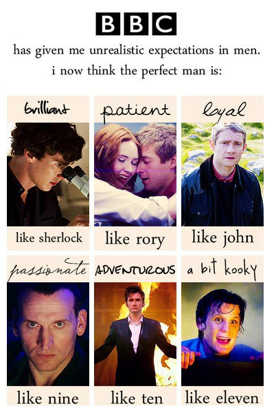 The perfect man is...