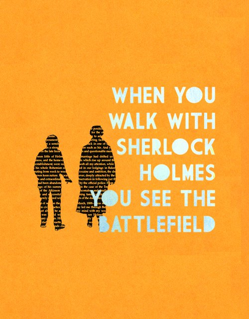 When you walk with Sherlock...