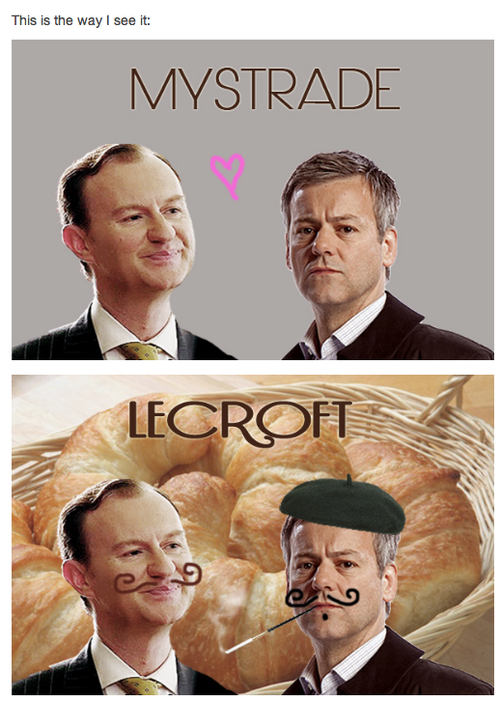 Plutôt Mystrade ou Lecroft ?