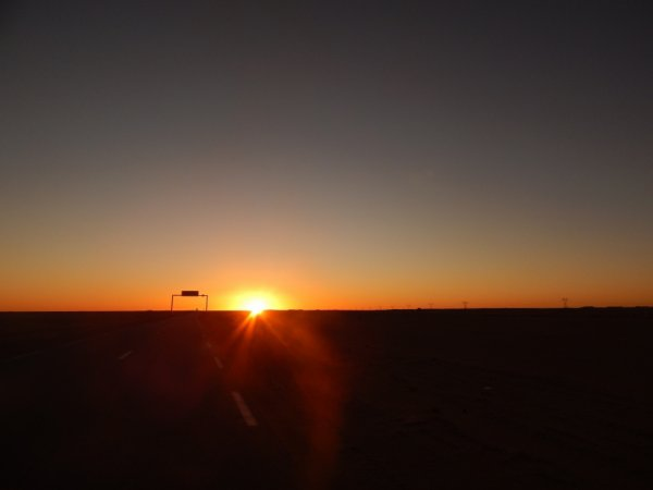 the sun set in algeria sahara