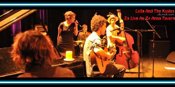 LEILA AND THE KOALAS EN LIVE AU TY ANNA TAVARN < Facebook | Youtube | Myspace | Twitter Fans | Noomiz | Forum >