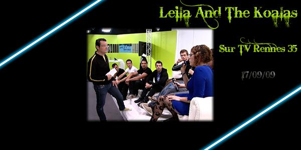 Leila And The Koalas sur TV Rennes 35 (17/09/09) < Facebook   Youtube   Myspace   Twitter Fans   Noomiz   Forum >