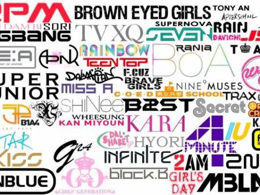 la musique k-pop a travers ces groupes...
