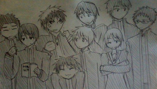 J'ai dessine SEIRIN de Kuroko no basket!