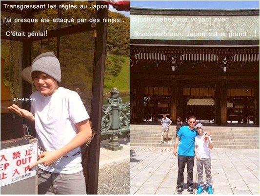 21 Avril 2010 Nouvelle photos de Justin à Tokyo postées via sont Twitter Behind the Scene d' Eenie Meenie ~ Justin parle du Japon