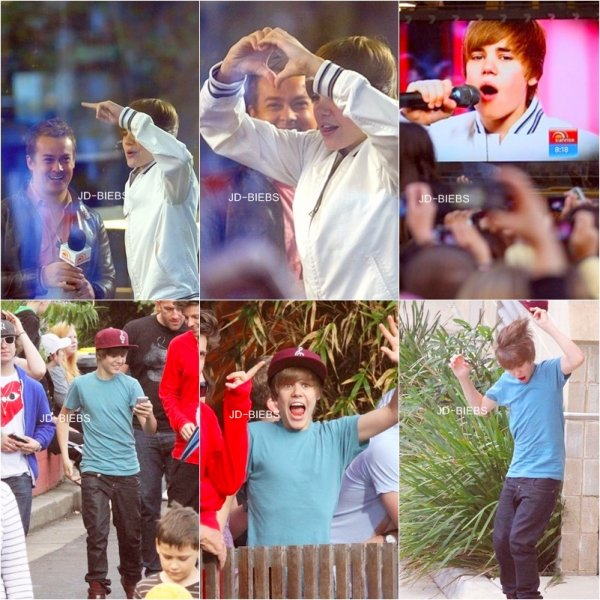 26 Avril 2010 Ce matin, au lever du soleil Justin était à l'émission Autralienne 'Sunrise', Sydney.  Hier ( 25 Avril ) Justin c'est rendu au zoo avec des amis et sa famille. Sa casquette et ses chaussure sont toujours assortie, hihihi ♥ Deux nouvelles photos provenant du twitter de Justin.