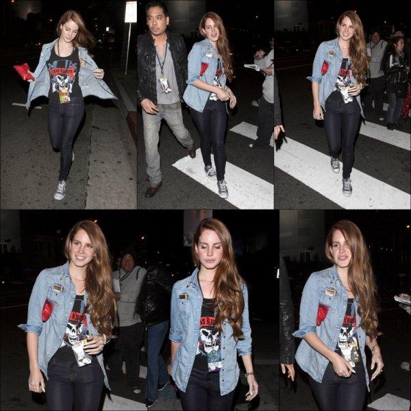13/03/2012, Lana Del Rey se rendait à un concert, + music, et une photo.