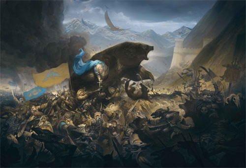 La bataille des cinq armées