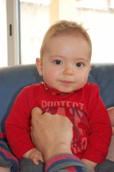 Baptiste : 13 mois.