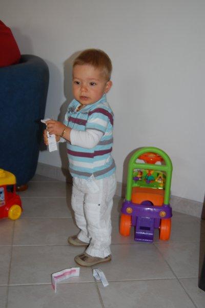 Baptiste : 17 mois.
