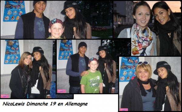 NicoLewis en Allemagne avec des fans