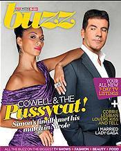 Nicole Scherzinger et Simon sur la couverture pour le magazine Buzz