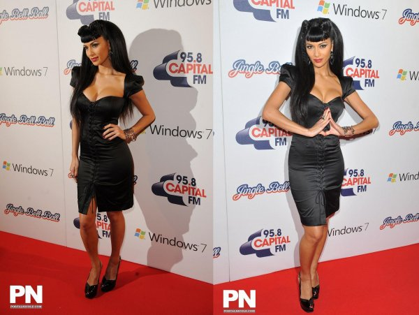 Nicole at Jingle Bell Ball, London 4/12/2010