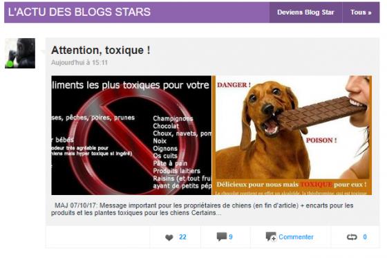 Être blog star...