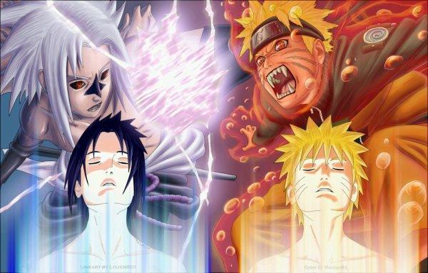 petite image fun des tranformation de naruto et sasuke