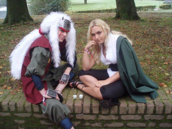 cosplay de jaraya et de tsunade la 5eme hokage