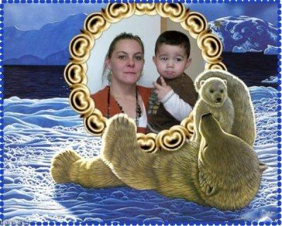 voici ma maman et mon cousin