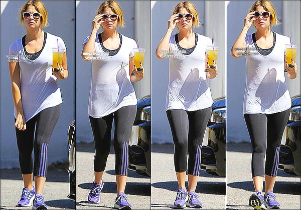02/09/13 : Ashley a été photographié alors qu'elle quittait son habituel cours de gym, seule dans Los Angeles.