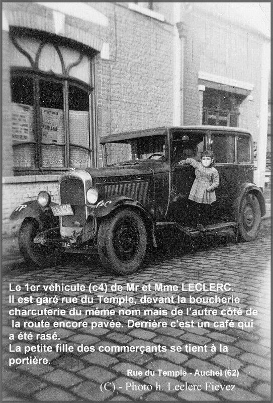 AUCHEL - La rue du Temple - Le véhicule C4 de la boucherie charcuterie LECLERC-FIEVEZ