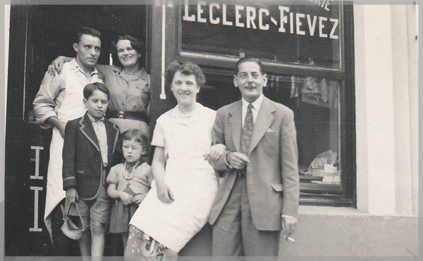 Boucherie LECLERC FIEVEZ, 66 rue du Temple à Auchel (62) vers 1950