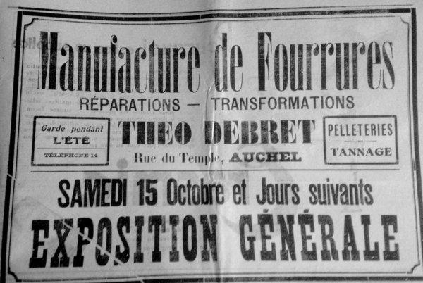 AUCHEL Manufacture de fourrures - Théo DEBRET Rue du Temple ( Qui se souvient ? )