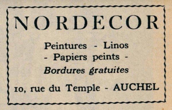 AUCHEL Nord Décor, peintures, linos, papiers peint, 10 rue du Temple